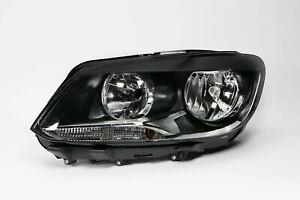 VW T5 2010-2016 Black Front Headlight Headlamp N//S Passenger Left