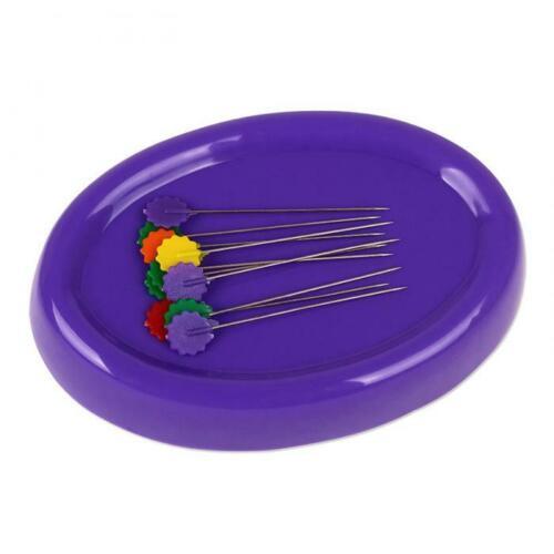 Magnet-alfiletero con 10 finas alfileres lila