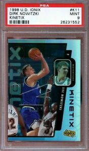 1998-99-upper-deck-ionix-kinetix-k11-DIRK-NOWITZKI-mavericks-rookie-card-PSA-9