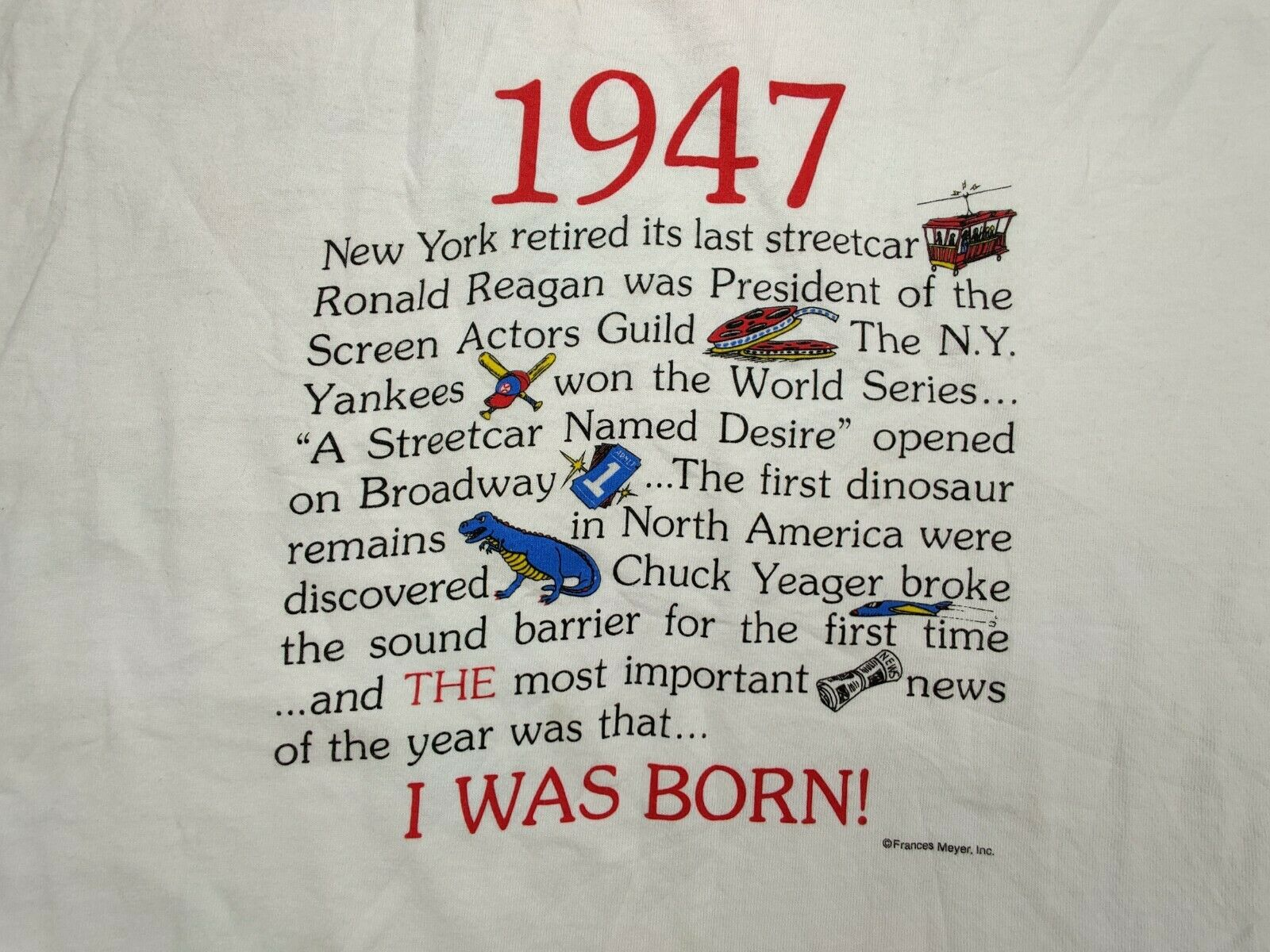 """Hanes Heavy Weight """"Vtg"""" Men's Large """"I Was Born … - image 2"""