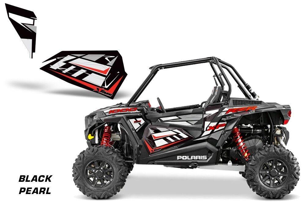 AMR Racing Graphic Kit Polaris Rzr 1000 Utv Utv Utv Oem Tür Einsätze 2014 Schwarz Prl e708f9