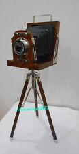 Vintage Designer Wooden Camera with Retro  Home Decorative