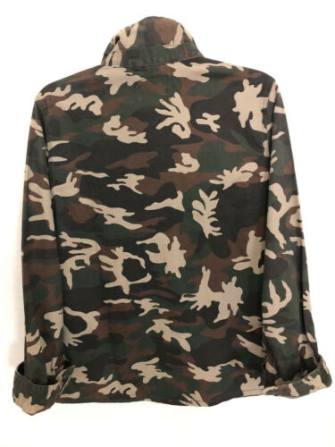 Anthropologie shirt T Fab Størrelse Grøn Shaket 139 New jakke M Brn Sanctuary Camo wCIqntxzga