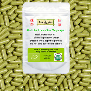 Matcha Green Tea Powder Vegicaps,  90 Capsules, 500mg, ORGANIC, Premium Quality