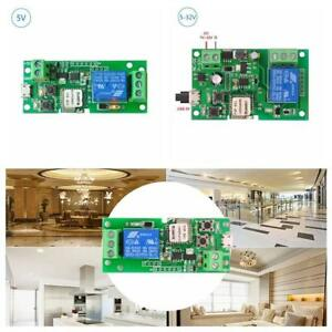 DC5V-Sonoff-Wireless-WiFi-Inching-Self-Locking-Home-Smart-Switch-Relay-Module-US