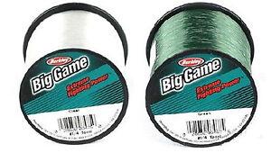 Berkley-TRILENE-BIG-GAME-PESCA-monofilamento-Mono-Green-amp-chiara-linea-di-pesca