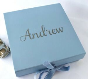 Image Is Loading LARGE BLUE GIFT BOX PERSONALISED VALENTINES BABY BOY