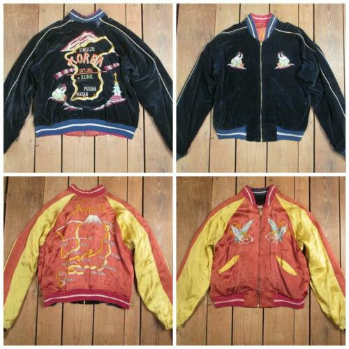 Vintage 1950s Japan Tour Jacket Korea Reversible S