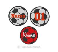 All Sizes - Custom Embroidered Soccer Ball Sport Name Tag Sew On Round Patch