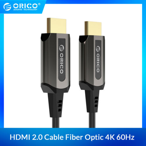 ORICO HDMI to HDMI Cable 2.0 Fiber Optic HDMI Connector 4K60HZ for PS4 PS3 PC TV