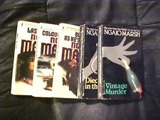5 Ngaio Marsh Paperback Novels Books Fiction Literature Last Ditch K684