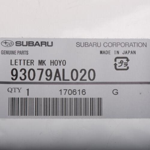 OEM 2015-2018 Subaru Tailgate Hatch Emblem Badge Nameplate Outback  93079AL020