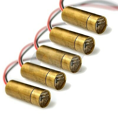 5 Pcs 650nm 5mW 3V Red Laser Cross Module Head Φ9
