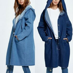 Women-Casual-Loose-Denim-Coat-Hooded-Hoodie-Trench-Outerwear-Jean-Jacket-Fashion