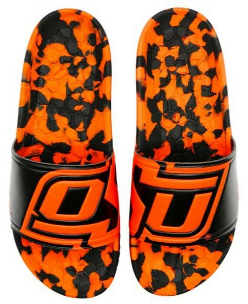 Hype Unisex Oklahoma State University Collegiate Slydr Sandal Shoe Swim Shower