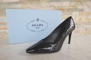1cf7c888c06be Prada Gr 38 Pumps Heels Lack Schuhe shoes 1I700F black schwarz NEU ...