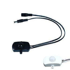 Bewegungsmelder-klein-5V-24V-DC-weiss-schwarz-Sensor-LED-Stripe-Infrarot-Top