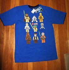 New Starwars T-Shirt Luke Hans Solo Yoda R2D2 C3P0 Light Saber XL (14-16) Lego