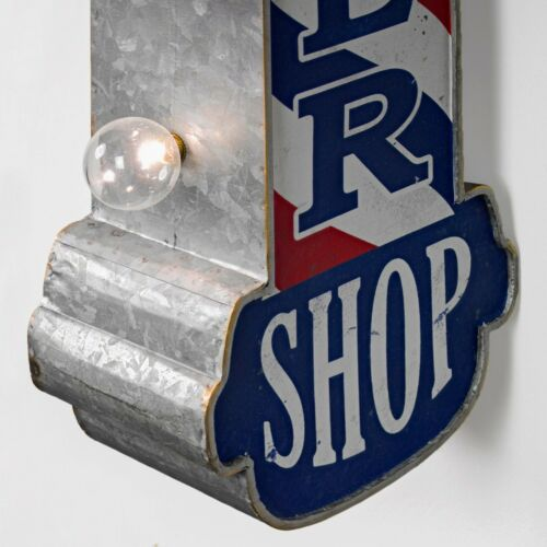 """Vintage Style Battery Operated Double Sided 30/"""" Barber Shop Marquee LED Sign"""