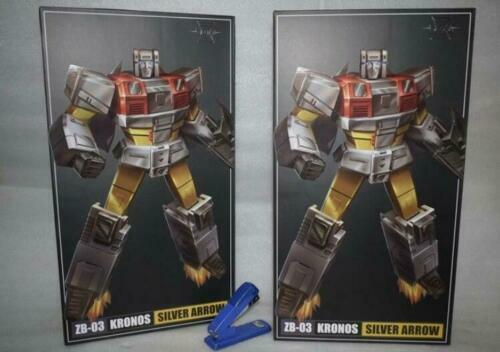 IN STOCK nuovo Transformers giocattoli Zeta ZB03 argento Arow G1 Superion argentobolt