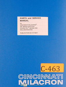 Cincinnati-Milacron-28-Series-EM-Milling-Machine-Parts-and-Service-Manual-1945