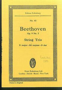 Beethoven-String-Trio-D-Dur-Op-9-No-2-Studienpartitur