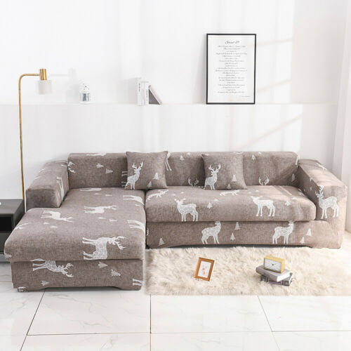 1~4 Seater Sofa Covers Stretch Lounge Couch Furniture Protector Home Art Decor
