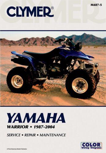 Clymer M487-5 Yamaha Warrior Raptor ATV 1987-2013 Service Maintenance Manual