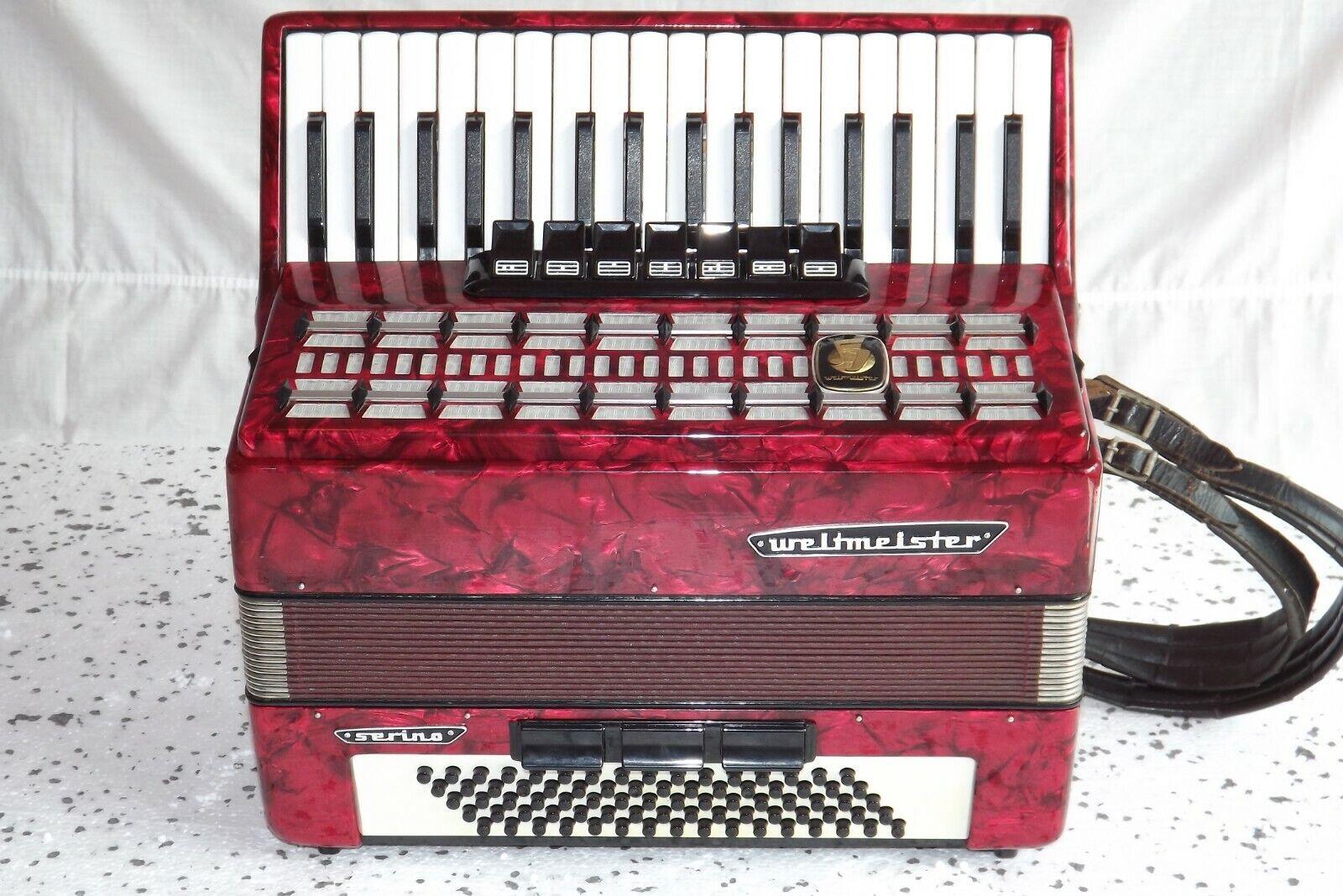Klavier Akkordeon akkordeon fisarmonika WELTMEISTER SERINO 80 bass