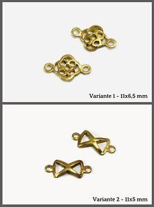 Verbinder-aus-Messing-Mini-filigran-Anhaenger-Zwischenteile-Zwischenstueck-C-50