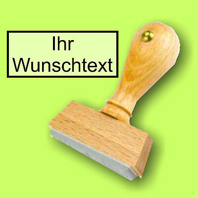 30 X 30 Mm Rahmen Zentriert Wunschtext S01 Holzstempel Stempel Bis 4 Zeilen NüTzlich FüR äTherisches Medulla