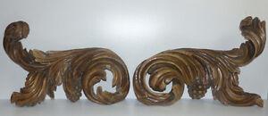 Riesige-Supraporte-Barock-Rocaillen-Trauben-Blattwerk-120-cm-breit
