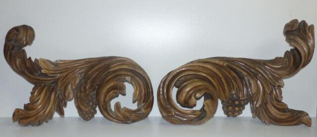 Riesige Supraporte, Barock, Rocaillen, Trauben, Blattwerk, 120 cm breit