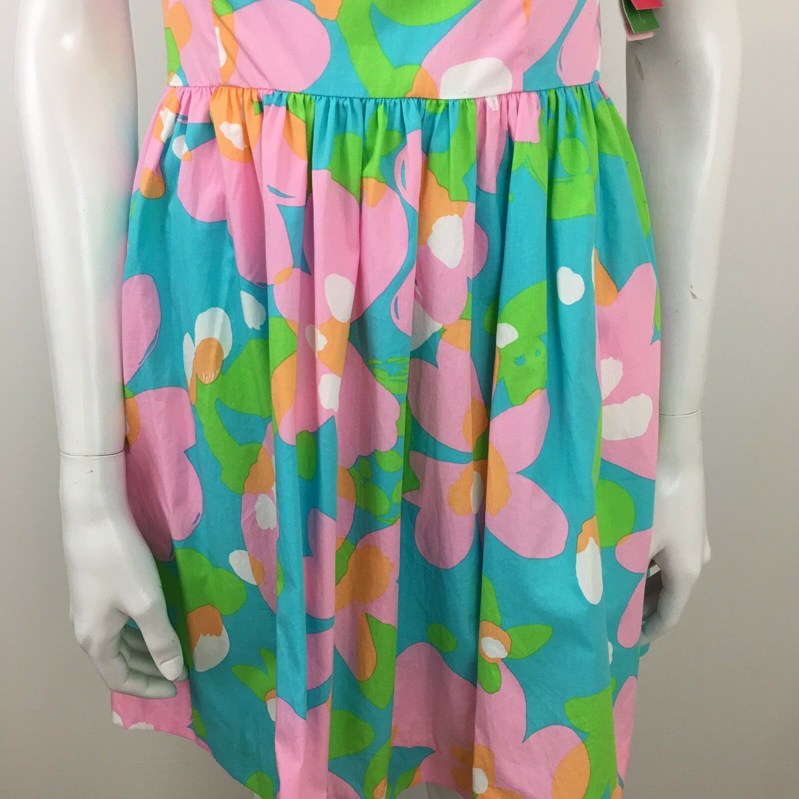 Lilly Pulitzer Richelle Shorely Blue Mojo Strapless Tie Back Dress 2