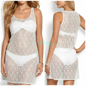 White Lace Tank Dress Cover Up