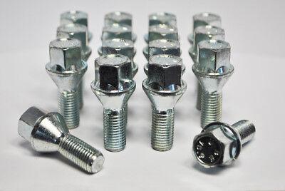 20 X M12 X 1.5 Zinc hilo de 24mm Pernos de rueda cónica