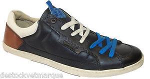 2089b9a83fdfb7 KICKERS AMBASSY Chaussure baskets homme cuir noir | eBay