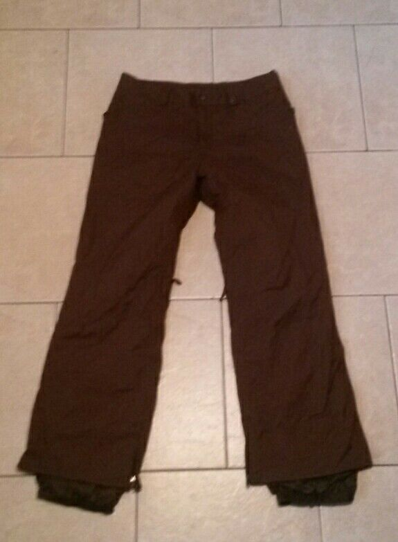 NearNew  BURTON snow board pants,brown,taped seams,zip vents womens L,mens  online shopping and fashion store