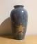 Vintage-retro-large-blue-and-white-marble-effect-floral-flower-Vase-handmade miniatuur 1