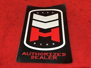 NOS VINTAGE GT BICYCLES AUTHORIZED DEALER WINDOW STICKER DECAL BMX FREESTYLE