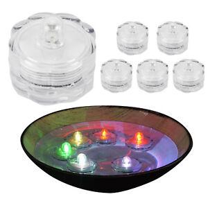 6er-Set-Schwimmende-LED-Teelichter-Windlicht-Kerze-bunt-wasserdicht-Farbwechsel