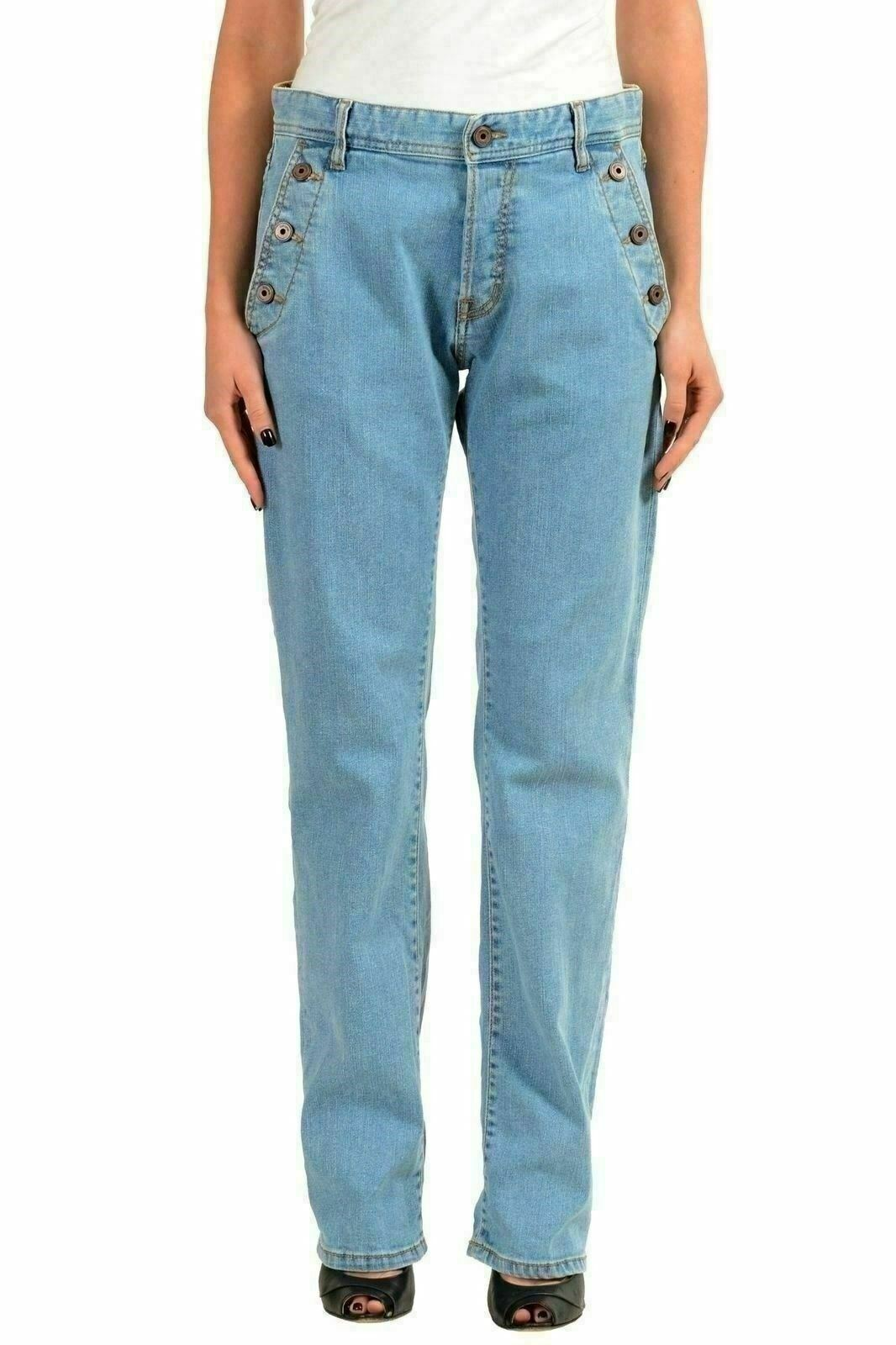 Just Cavalli blue women Jeans Taglio Dritto Us 4 It 26