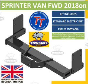 Flange-Towbar-for-Mercedes-Sprinter-Van-FWD-2018on-L1-L2-SWB-MWB-Without-Step