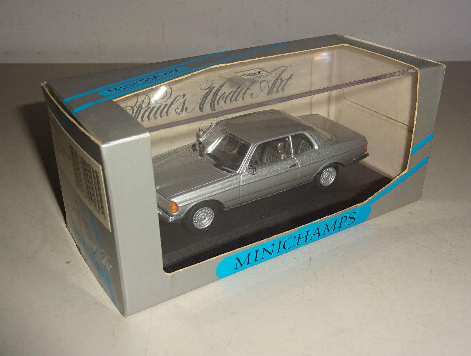 Mercedes-Benz W 123 Coupé 280 Ce Ce Ce Argent / Argent Métallique Minichamps 1:43   élégante Et Gracieuse    Fabrication Habile    Se Vendant Bien Partout Dans Le Monde  cf705d