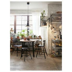 Ikea Table Table De Cuisine Salle Manger A Manger Antikbeize Clair Noir Colore Ebay
