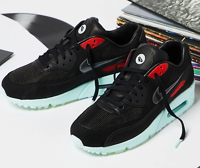 Nike Air Max 90 Premium Black Cool Grey Teal Tint University Red | Footshop