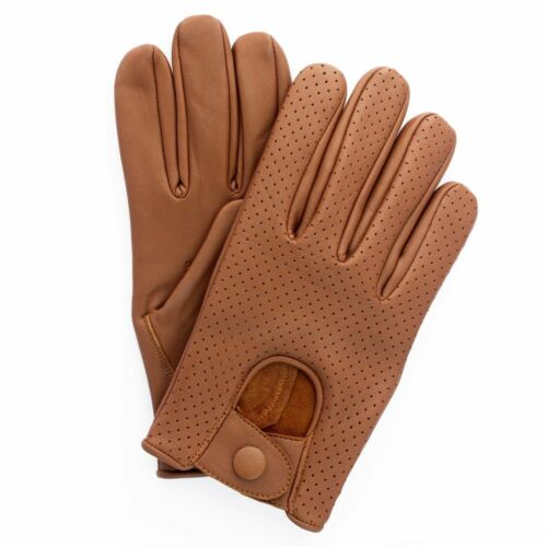 Men/'s Mesh Leather soft Driving Gloves Comfort Chauffeur Retro Style Top Quality