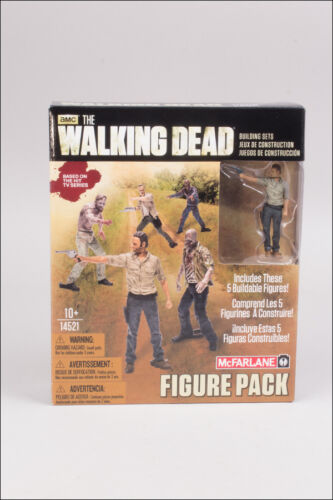 TWD FIGURE PACK 5x BUILDABLE FIGURES THE WALKING DEAD TV CONSTRUCTION SETS MBS