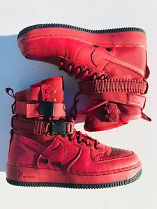 Details about Nike SF Air Force 1 Casual Shoes 857872 600 Cedar Red Black Women's Size 9.5