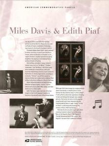 898-45c-Forever-Davis-amp-Piaf-4692-amp-4693-USPS-Commemorative-Stamp-Panel